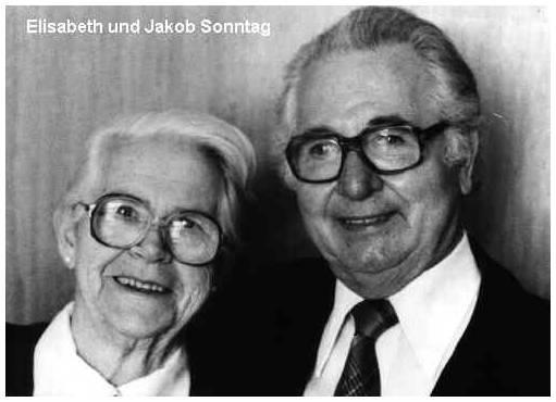 Elisabeth und Jakob Sonntag