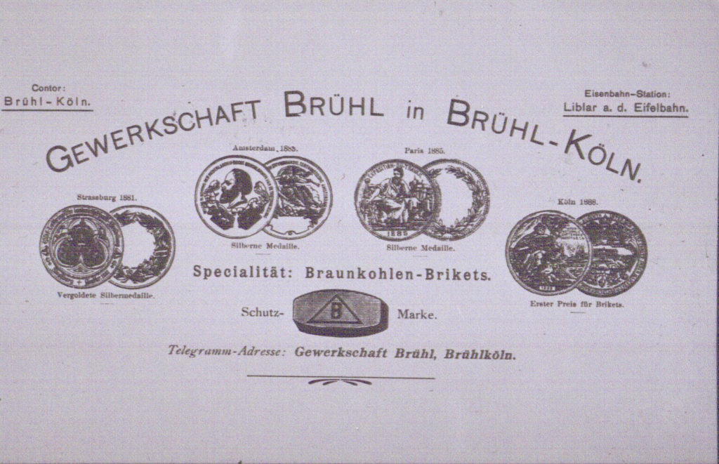 Brühl in der Braunkohlenzeit - Repro: Bernhard Münch / Archiv Jakob Sonntag