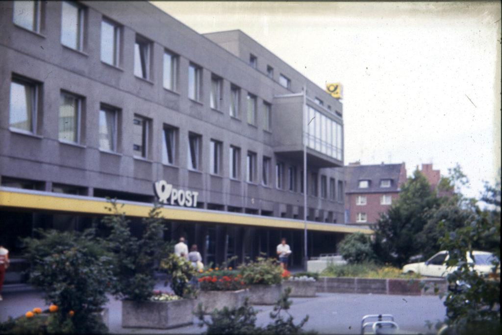 Der Neubau der Post am Balthasar-Neumann-Platz
