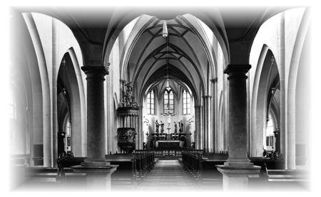 historischer Blick in die Pfarrkirche St. Margareta